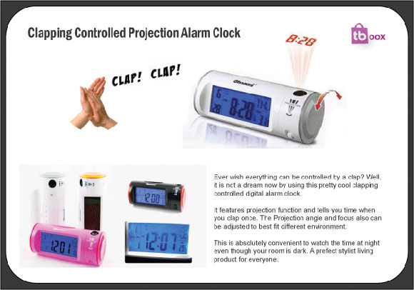 clapping alarm clock