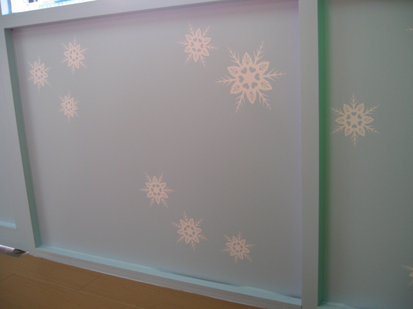 flake wall decals