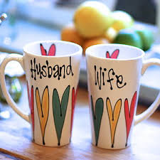 personalized latte mug for couple