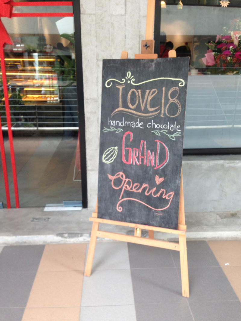 Grand Opening Love18 Handmade Chocolate